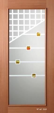 Vidrio decorado para puertas de paso