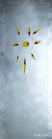 Cristal decorativo para puertas de paso