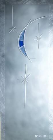 Cristal decorado para puertas de paso