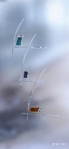 Vidrio decorativo para puertas interiores