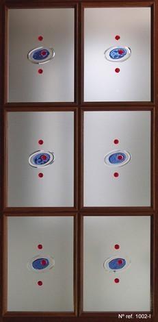 Vidrio decorado para puertas