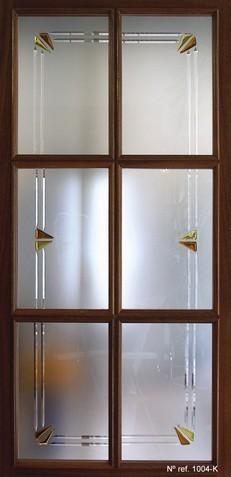 Vidrio decorado para puertas interiores