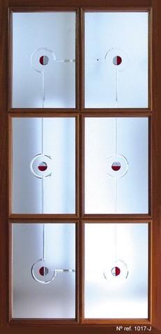 Cristal decorativo para puertas interiores