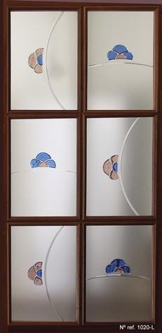 Vidrio decorativo para puertas de paso