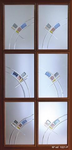 Vidrio decorativo para puertas