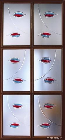 Cristal decorado para puertas interiores