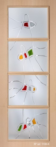 Cristal fusing para puertas interiores