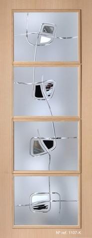 Vidrio fusing para puertas de paso