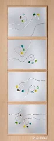 Cristales decorados para puertas de paso