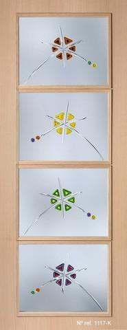Cristal decorado para puertas