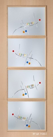 Cristales fusing para puertas interiores