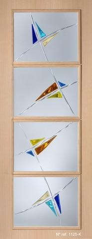 Cristales decorativos para puertas de paso