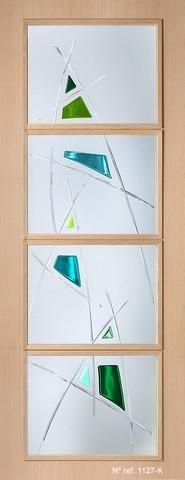 Cristales decorativos para puertas interiores