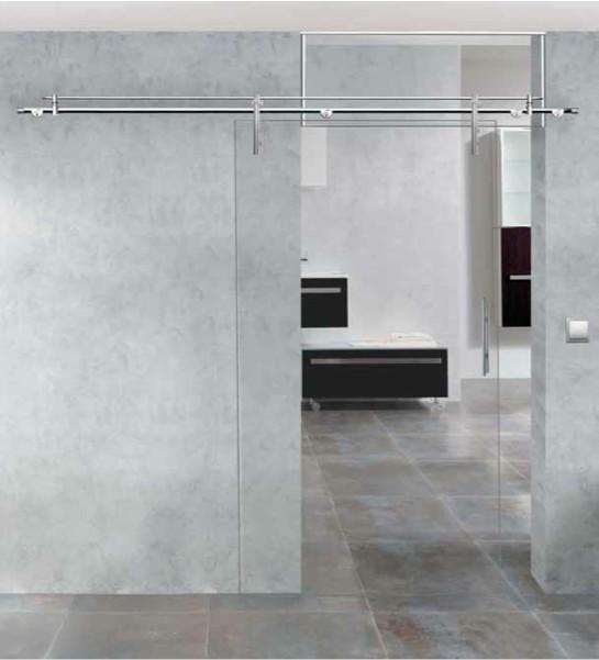Puertas de cristal correderas Madrid | Vidrio rodamientos ocultos