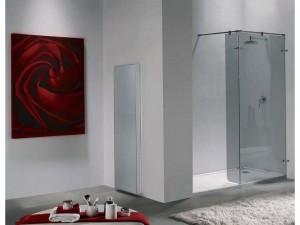 mamparas de ducha de cristal y acero madrid