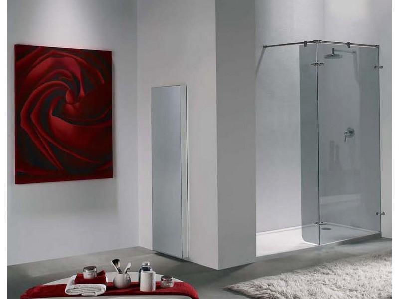 Mampara de ducha de acero