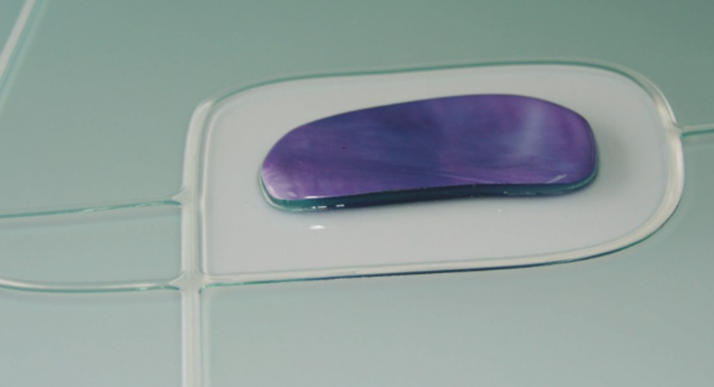 Cristales decorados con vidrio fundido