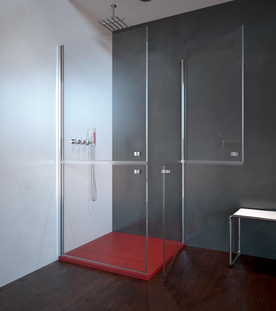 Assilah - Mamparas de ducha: apertura al vértice