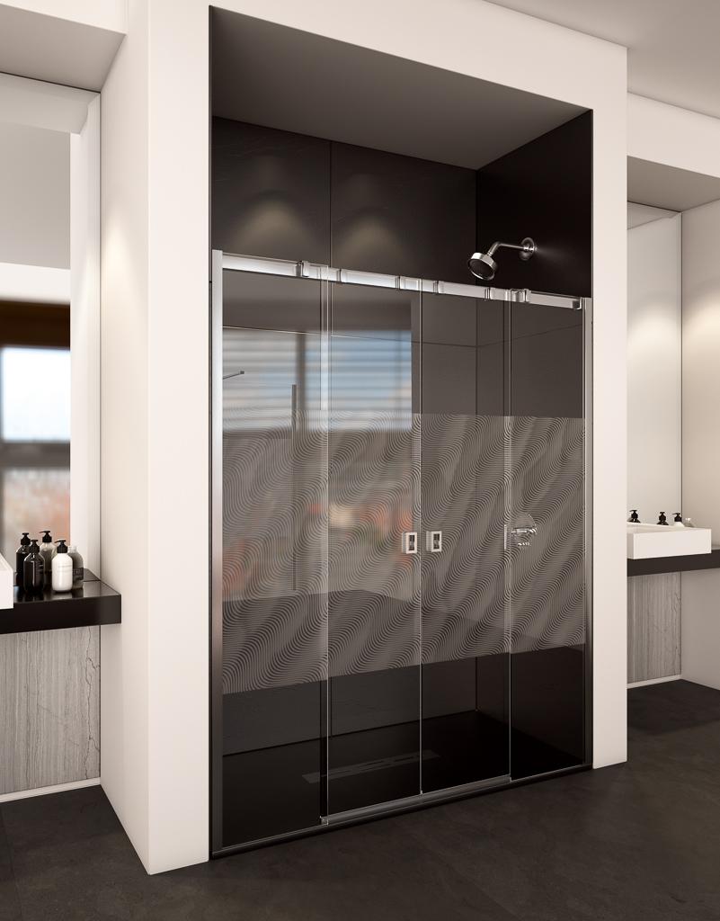 malaga - Mamparas de ducha: apertura frontal