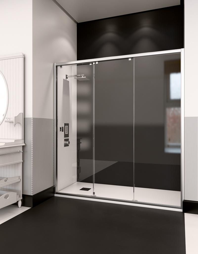 nueva delhi - Mamparas de ducha: apertura frontal